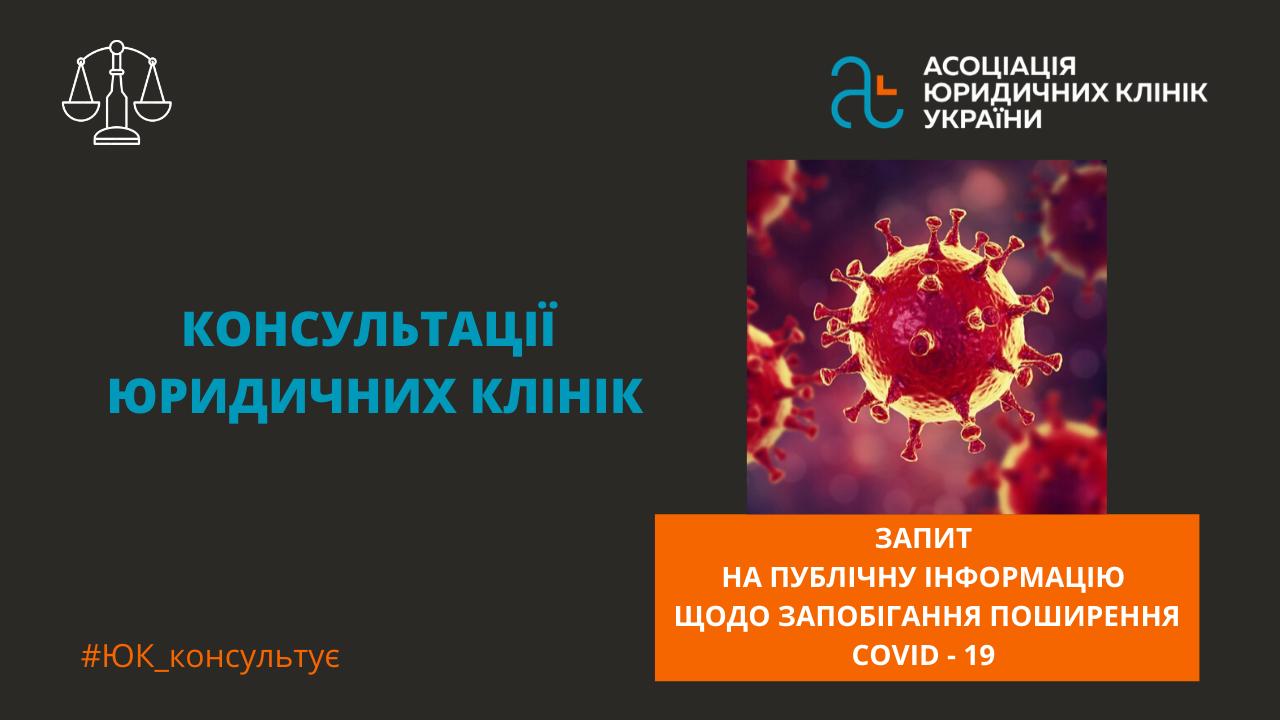 Запити на інформацію щодо запобігання поширенню коронавірусу