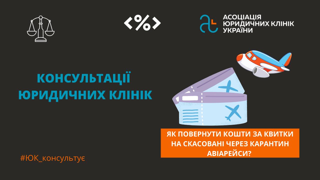 Повернення коштів за скасовані через карантин авіаційні перевезення