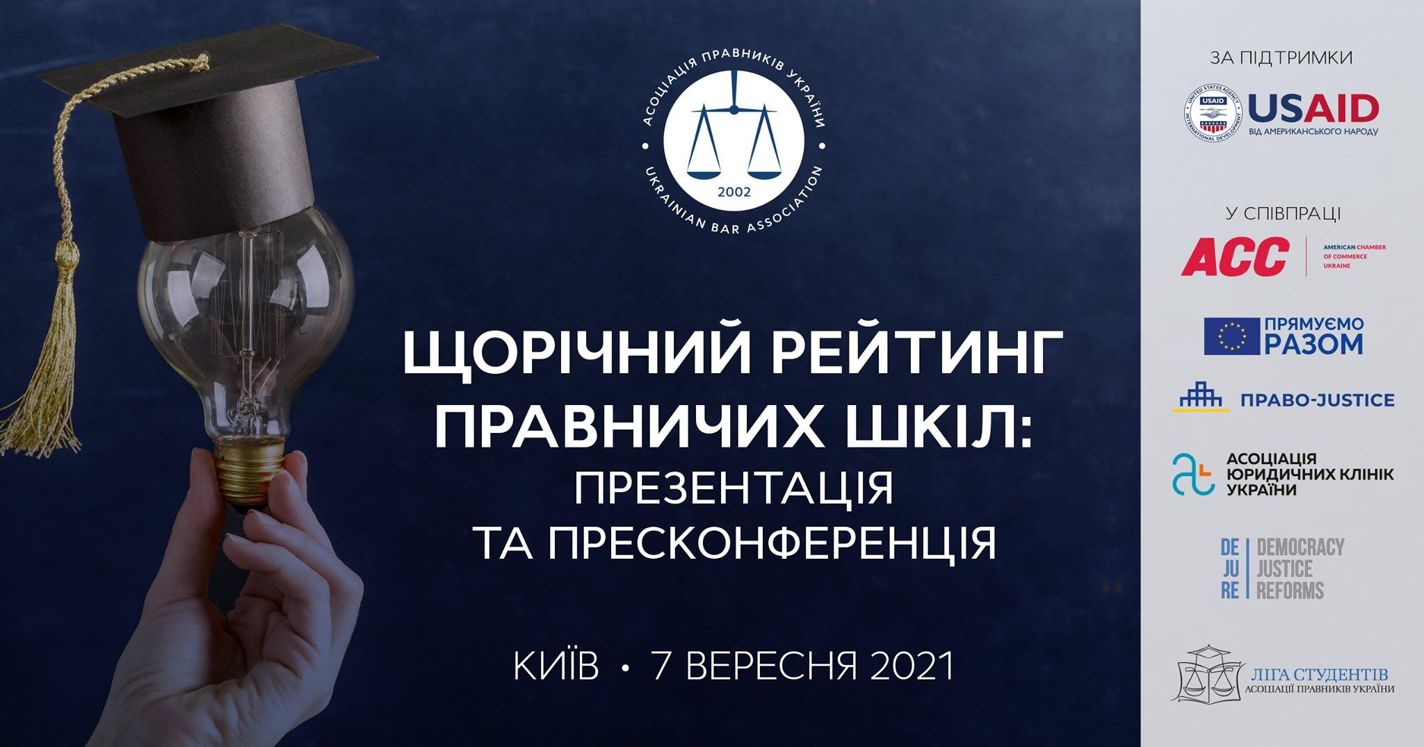 Щорічний рейтинг правничих шкіл: презентація та пресконференція