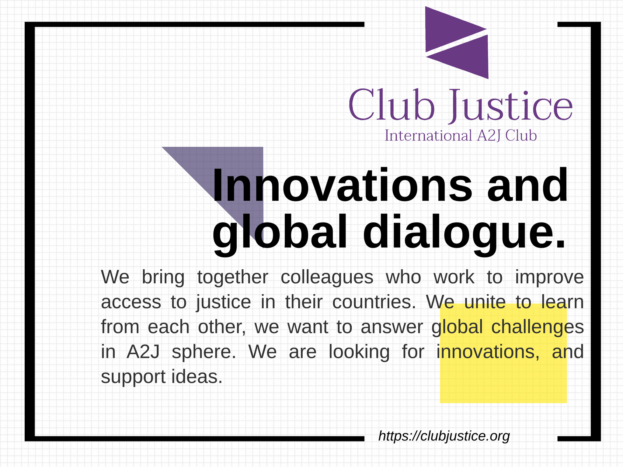 A2J Club Justice is Opening!